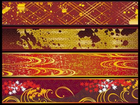 Autumn Japanese pattern belt set sideways