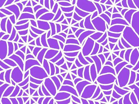 蜘蛛巢紫色,白色螺紋