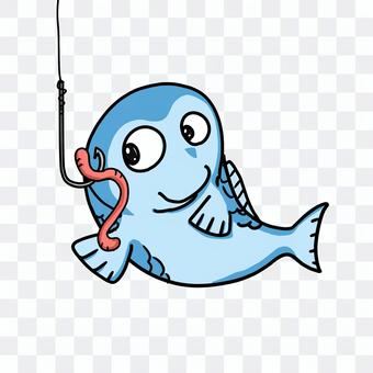 Fishhook and fish