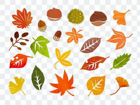 手繪秋季插畫素材
