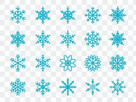 雪花套藍色