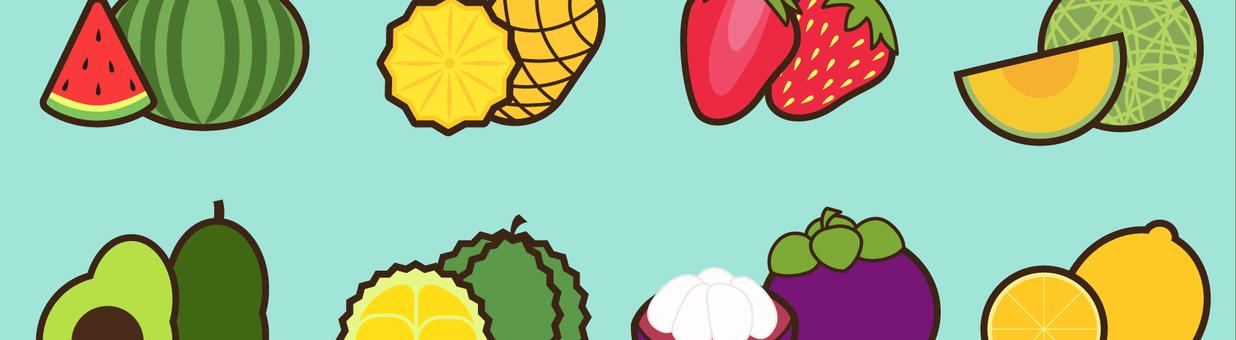 水果插畫橫幅