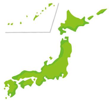 變形的日本地圖