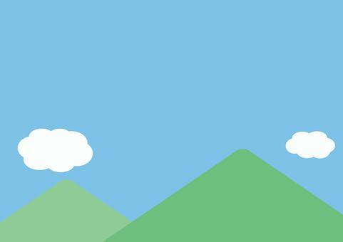 天空和山地景觀