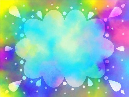 水彩框架雲