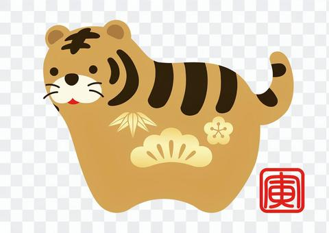 New Year's card material Tiger year mascot