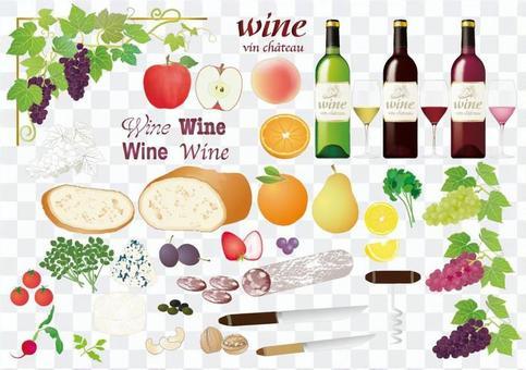 葡萄酒和配料_各種各樣