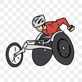 Wheelchair racer male