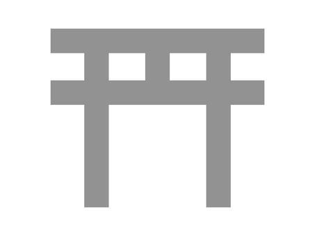 簡單的神社鳥居圖標 B:石頭顏色