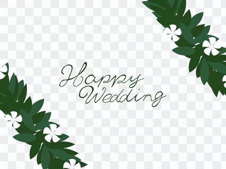 雞蛋花夏威夷婚禮框架
