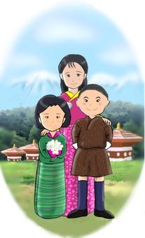 不丹的孩子