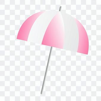 粉色雨傘的插圖