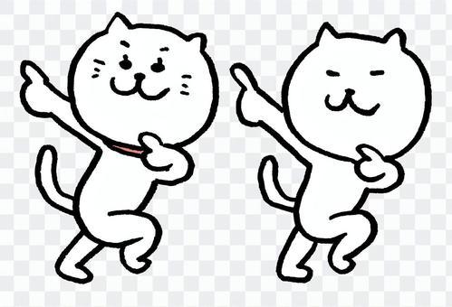 兩隻跳舞的貓