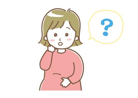 考慮疑慮的孕婦1