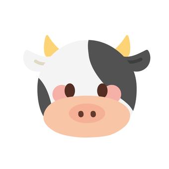 可愛的牛臉