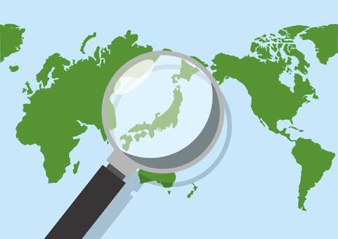 World map · Japan