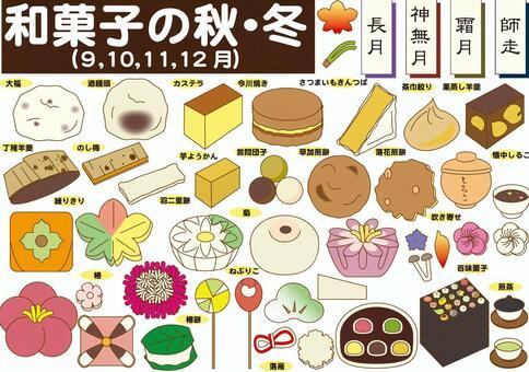 和菓子いろいろ(秋、冬)