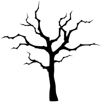 Creepy thin tree silhouette
