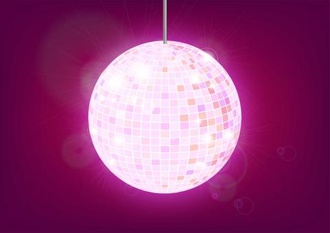 鏡球(粉紅色)