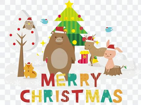 森林动物和圣诞节2