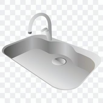 水槽(銀色)