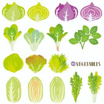 Vegetable set leaf stem vegetables