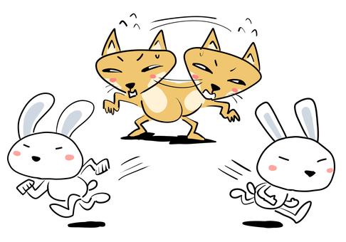 追逐兩隻兔子的人沒有得到一隻