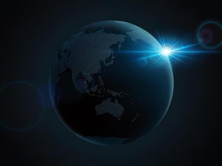 Earth Dot Map Asia 4 dark