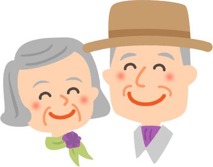 老夫妇 笑颜