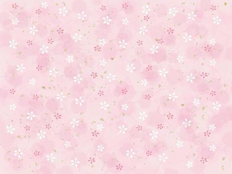 小花日本紙_粉紅色