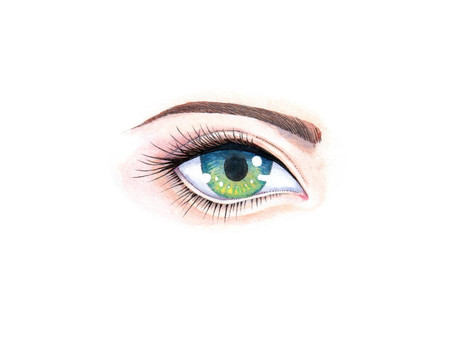 Hand-painted eye illustration (real)