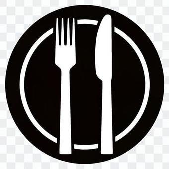 Knife fork icon 07
