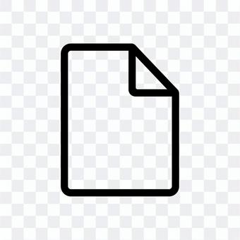Document silhouette icon
