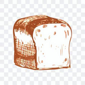 食パンのスケッチイラスト