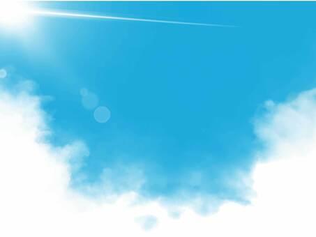 陽光,天空和雲彩