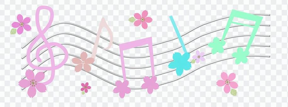 Musical note cherry tree