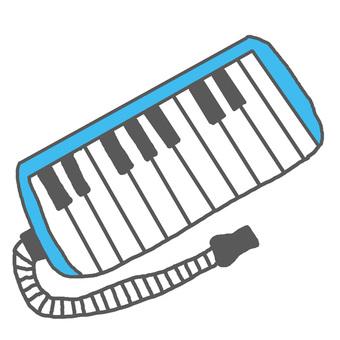 La la la ~ ♪ keyboard harmonica