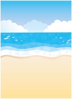 Summer sea beach beach background