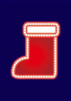 霓虹燈標誌·聖誕老人靴子