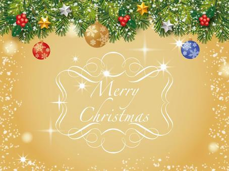 Christmas card_ornament_gold