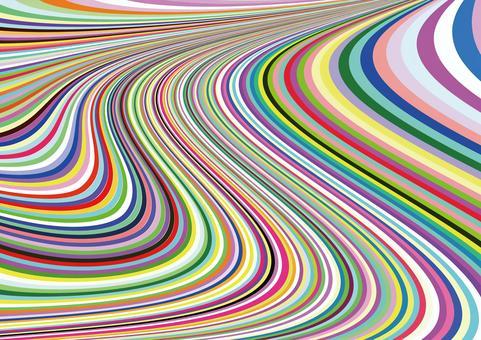 カラフルな波状のうねり 壁紙