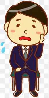 緊身西裝男士(煙斗)