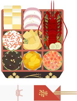 osechi 菜餚 05 的插圖