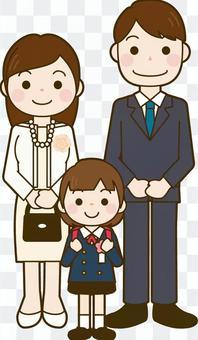入學儀式家庭照片