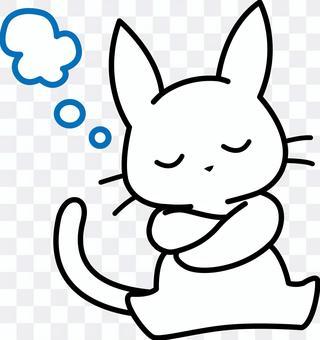 白貓沉迷於思想