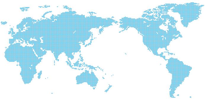 World Map_Dot_Asia Center