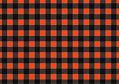 Halloween-colored gingham check ①
