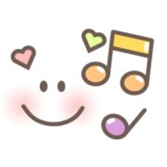 音樂音符面對心多彩