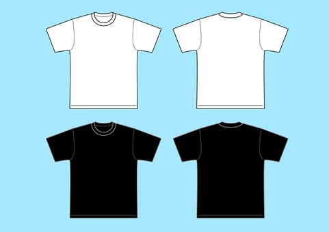 T卹模板白色和黑色