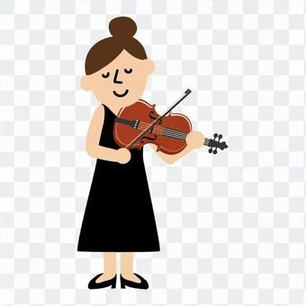 A woman playing an instrument